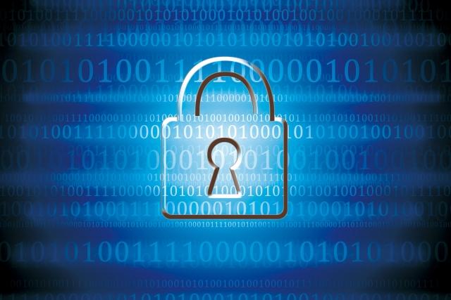 デジタル空間にあるセキュリティーマーク