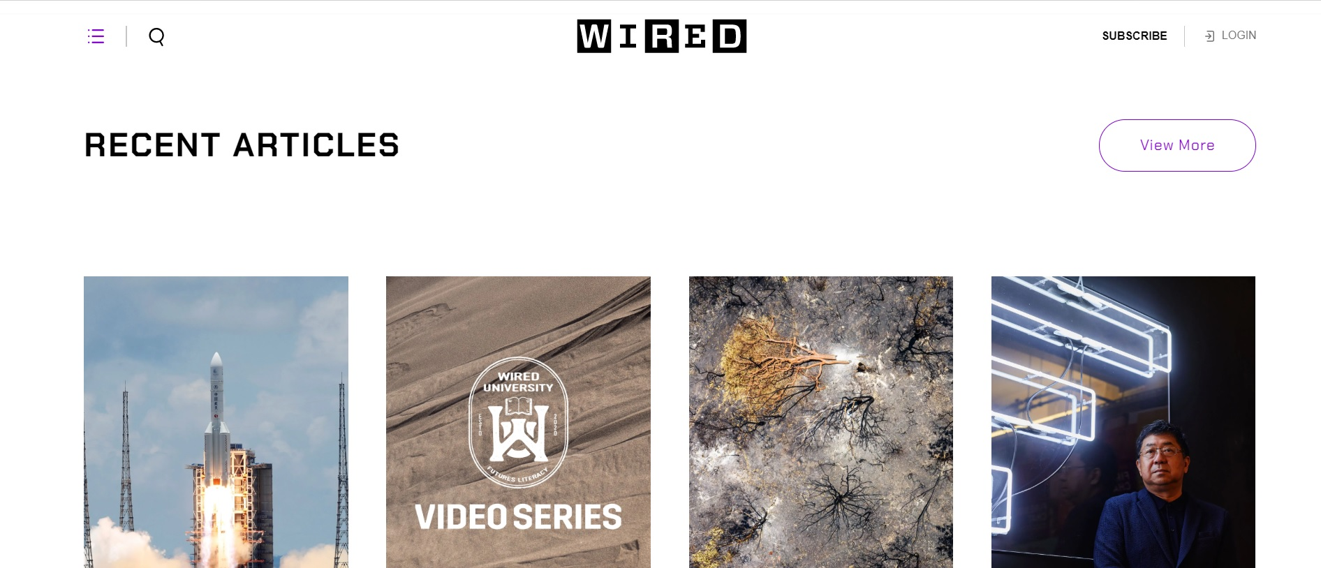 WIREDのTOPページ画像